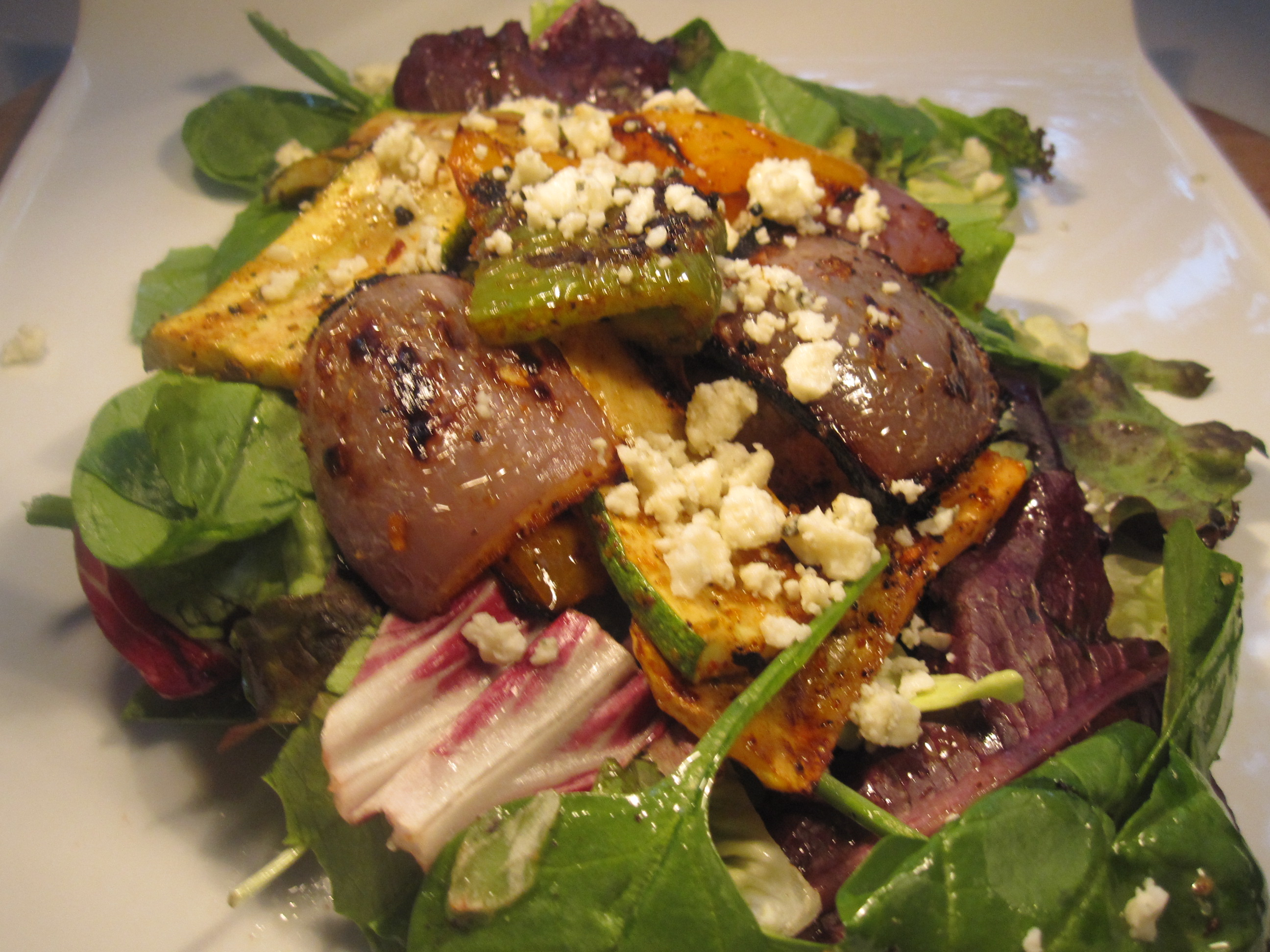 Grilled vegetable salad   the south in my mouth