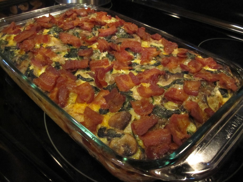 Bacon Mushroom Breakfast Casserole