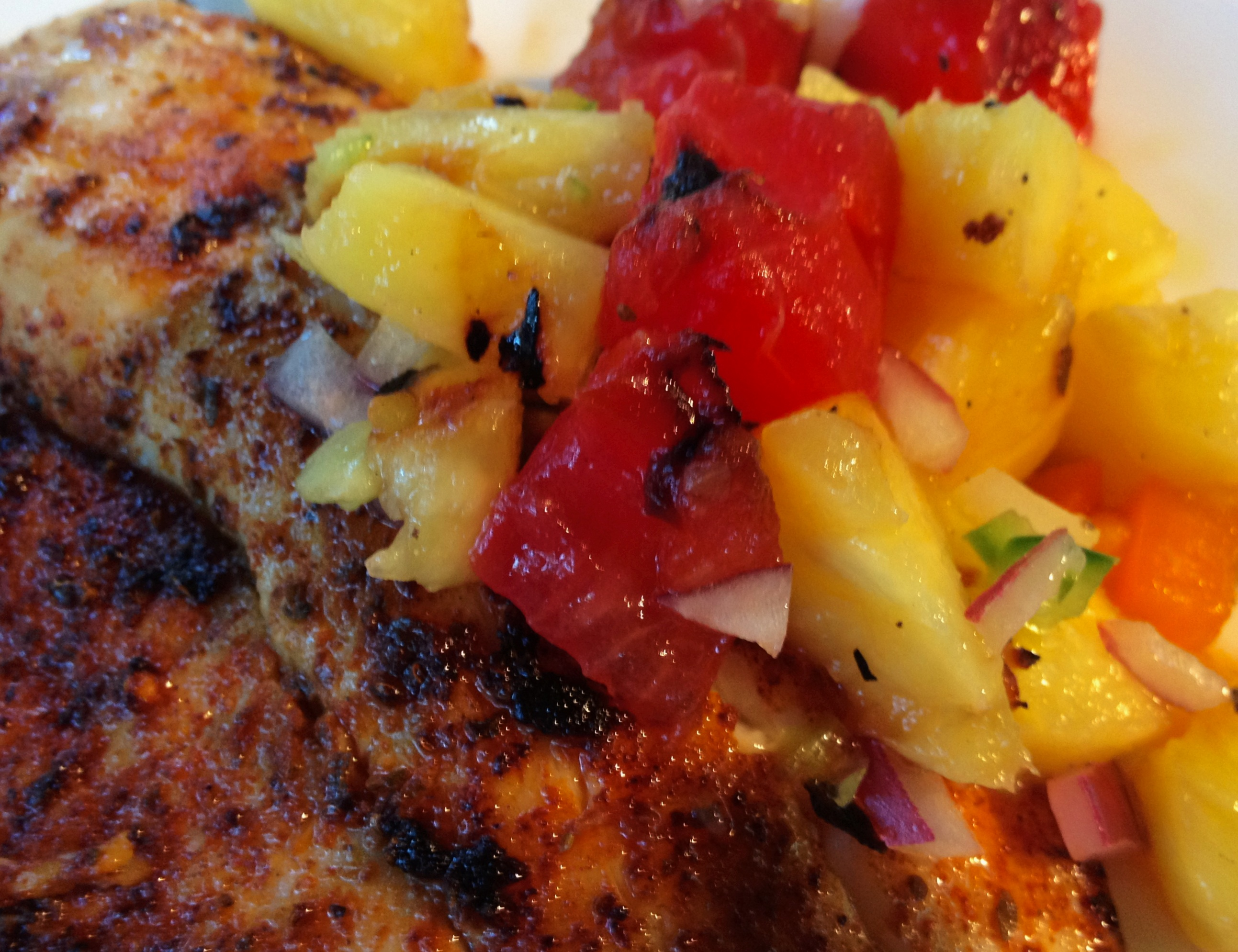 Grilled Tilapia With Cherry Salsa Recipe — Dishmaps