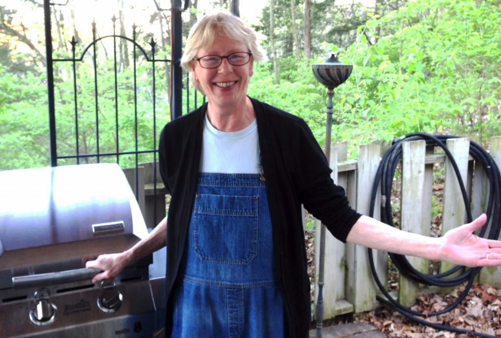 Catherine at the grill