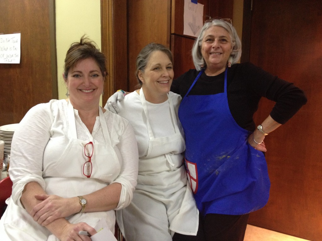 Susan, right, with Leslie and Katie - the back hall girls.