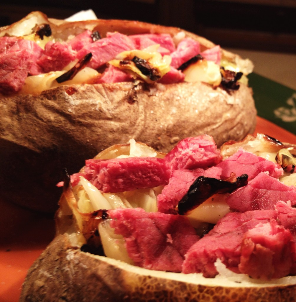 Corned Beef and Cabbage Stuffed Potatoes