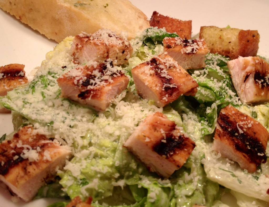 Grilled Chicken Caesar Salad with Homemade Croutons | the south in my ...