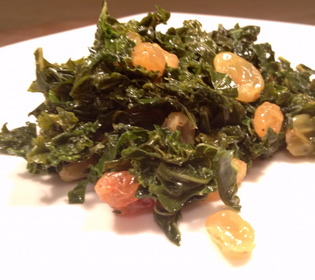 Satueed Kale and Golden Raisins
