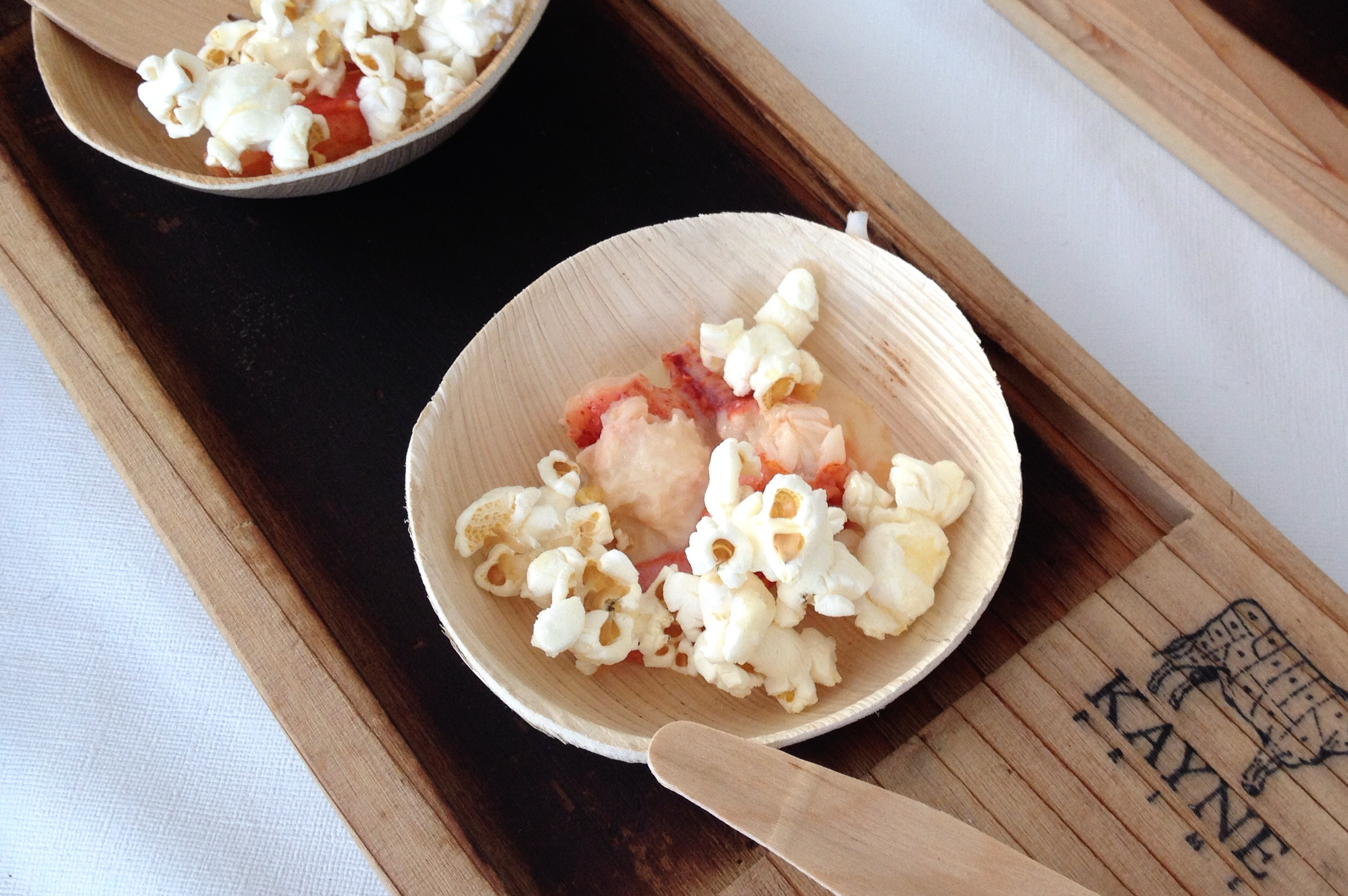 Butter Poached Lobster with Popcorn