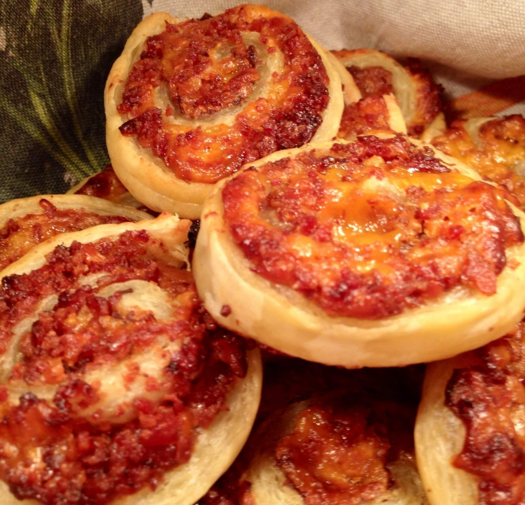 1 Bacon, Cheese and Fig Jam Palmiers
