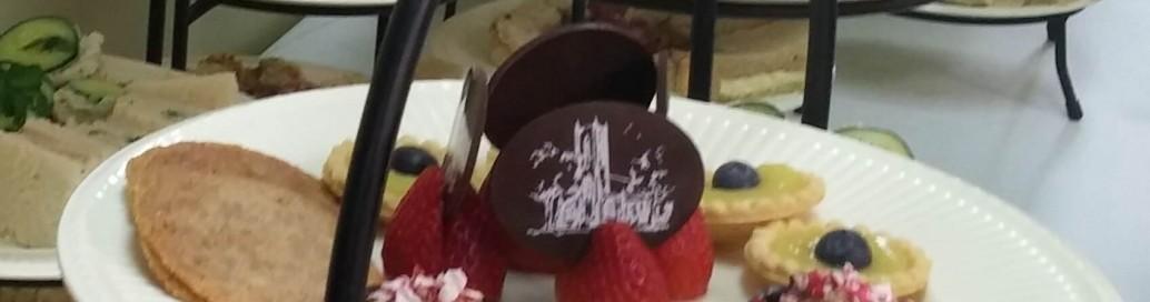Dessert plate tea
