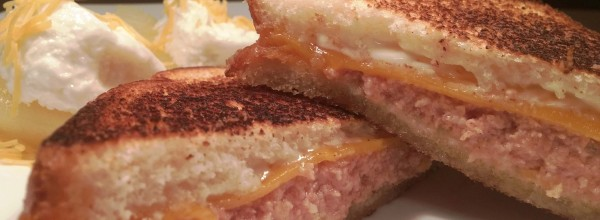 Underwood deviled ham and grilled cheese sandwiches