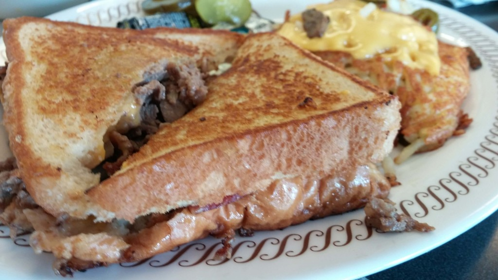 Bacon, Cheese and Steak Sandwich