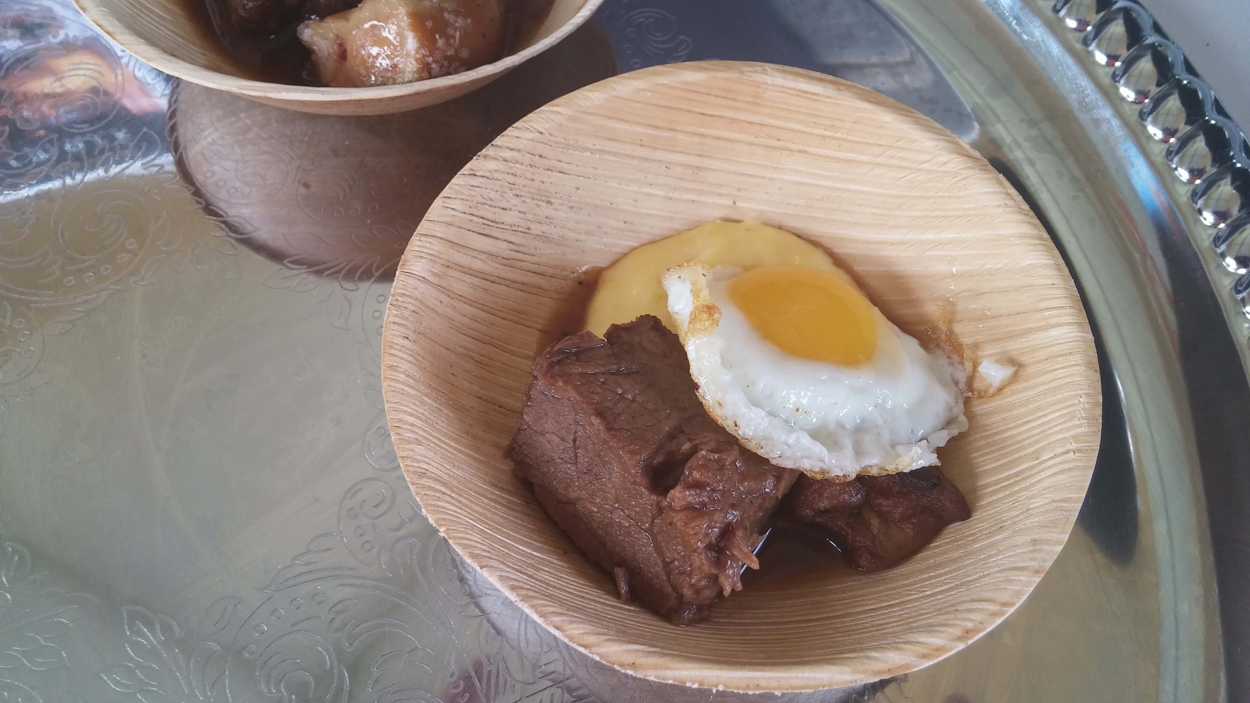 Short ribs, foie gras, quail egg