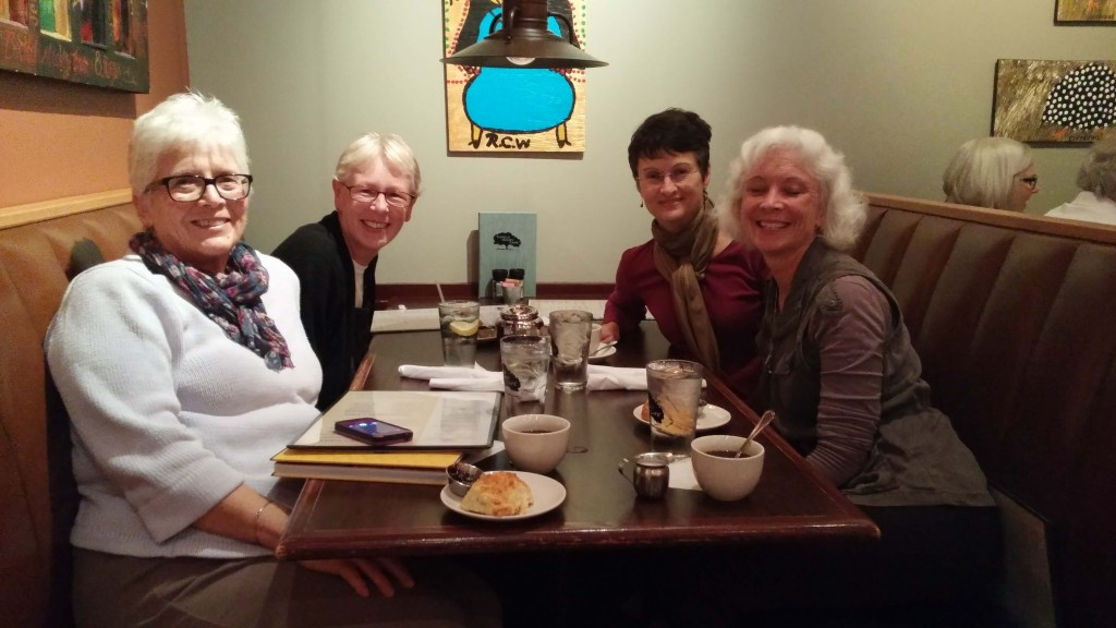 JoAnn, me, Kathy and Miriam (missing you, Jody)