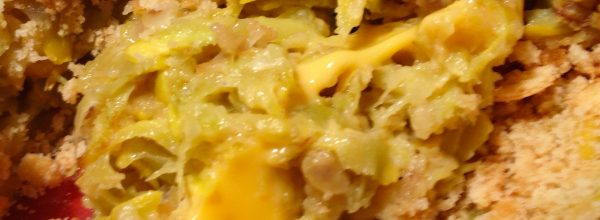 Squash casserole featuring cheez stuff